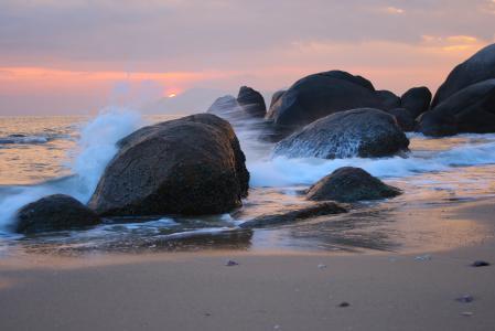 Фотографии пейзаж, Китай, закат, море