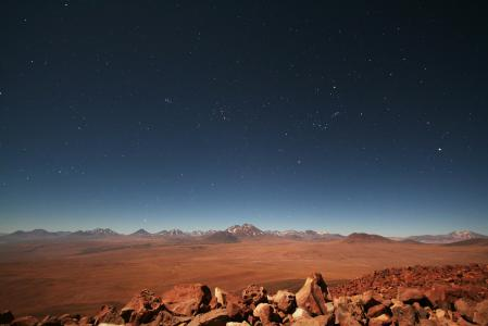 Обои Чили, равнина, горы, небо