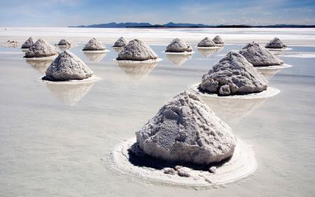 Обои песок, вода, соль, пирамиды
