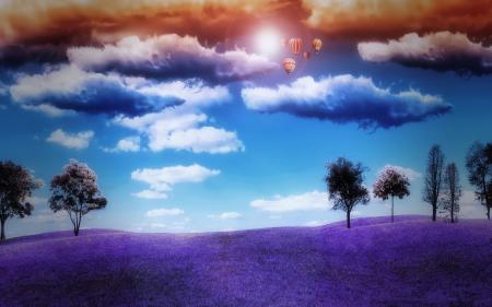 Фотографии природа, поле, деревья, небо