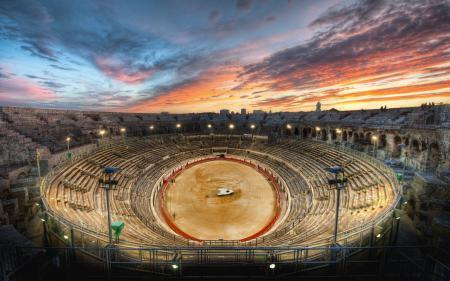 Картинки Gladiator, Arena, Sunset, арена