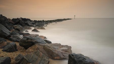 Фото морской пейзаж, море, берег, камни