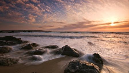 Фото морской пейзаж, море, волны, берег