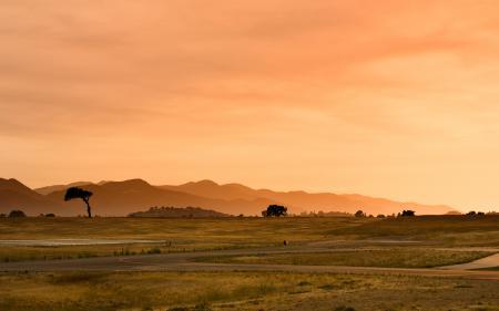 Обои пейзаж, природа, закат, свет