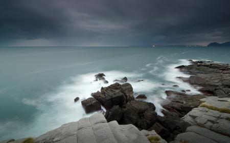 Фотографии море, небо, камни, природа