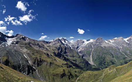 Обои пейзаж, природа, горы, снег