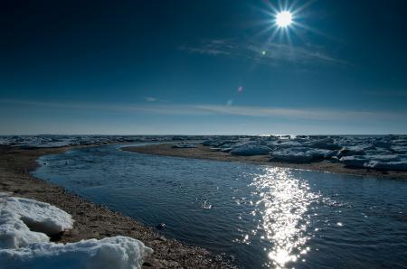 Фото весна, вода, река, лёд