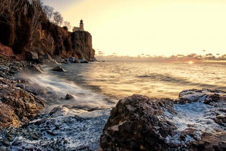 Заставки море, небо, скалы, камни