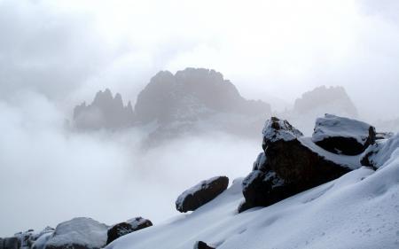Обои природа, пейзаж, горы, снег