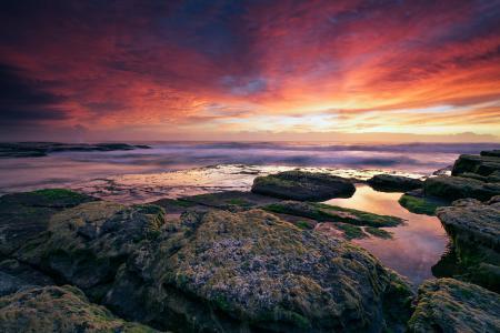 Фотографии закат, море, океан, небо
