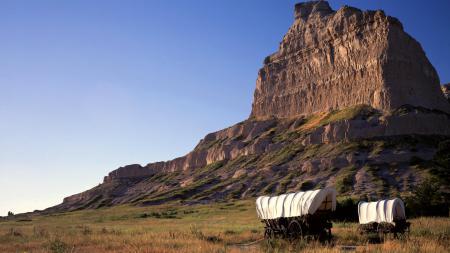 Фотографии телеги, горы, прерия