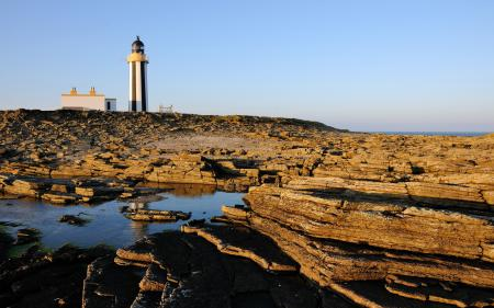 Заставки скалы, маяк, пейзаж