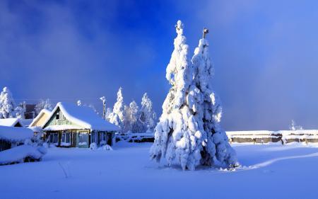 Заставки зима, дом, двор