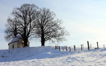 Картинки зима, храм, небо, пейзаж