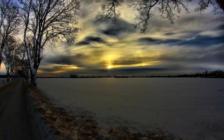 Фотографии зима, поле, снег, деревья