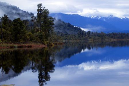 Фотографии озеро, горы, ночь, пейзаж