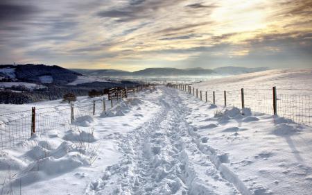 Заставки зима, снег, забор