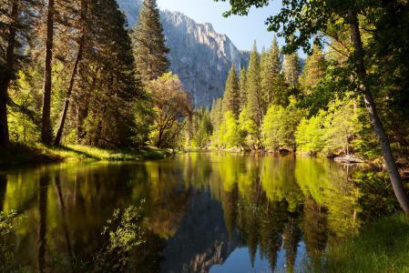 Заставки парк, США, лес, озеро