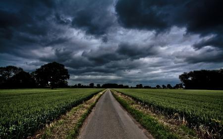 Заставки дорога, поле, пейзаж