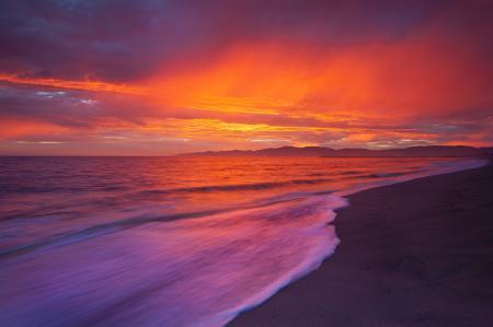 Картинки океан, пляж, рассвет, пейзаж