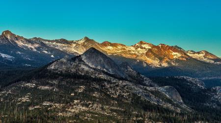Фото горы, лес, деревья, вершины
