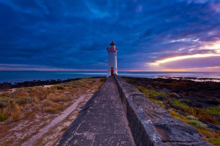 Фото маяк, природа, пейзаж, дорога
