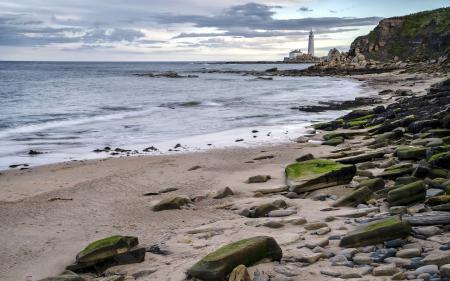 Заставки маяк, море, пейзаж