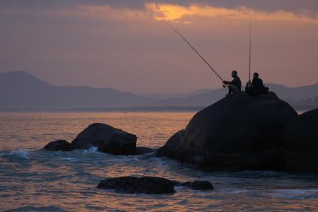 Фото пейзаж, остров Хайнань, море, закат