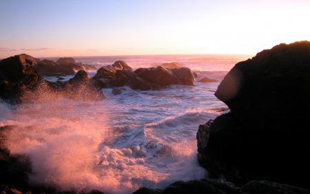 Заставки побережье, море, волны, камни