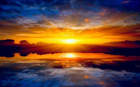 Заставки природа, пейзаж, закат, солнце