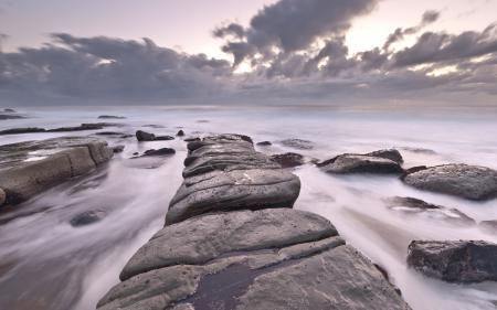 Заставки камни, море, сиреневый