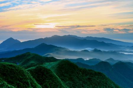Фотографии небо, утро, туман, холмы