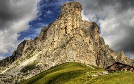 Заставки природа, пейзаж, горы, дом