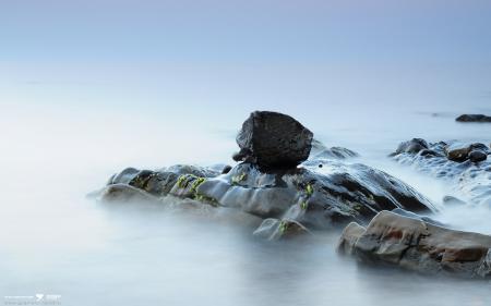 Обои камень, гранит, вода, море