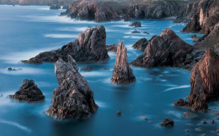 Обои Isle of Lewis, Шотландия, море, берег