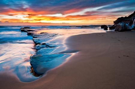 Заставки море, пляж, камни, песок