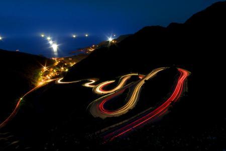 Фотографии Mountain, Night, Light Trails, Long Exposure