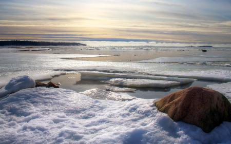 Заставки лёд, весна, природа, пейзаж