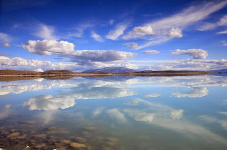Фото горы, озеро, зеркало, небо