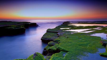 Фотографии море, небо, закат, камни