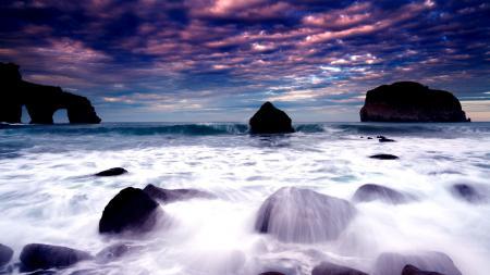 Фотографии море, берег, скалы, небо
