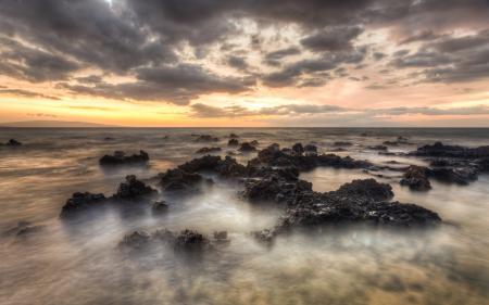 Картинки Гавайи, Мауи, закат, небо
