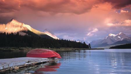 Обои канада, озеро, причал, лодки