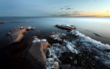 Картинки озеро, лёд, природа, пейзаж
