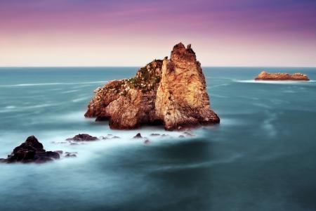 Картинки скала, море, океан, шум