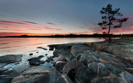 Заставки закат, море, пейзаж, природа