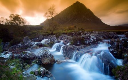 Обои река, гора, пейзаж, природа