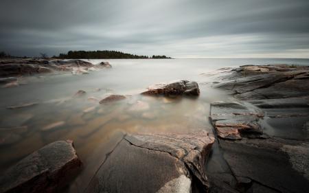 Обои море, камни, природа, пейзаж