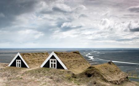 Заставки небо, дома, крыши, пейзаж