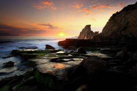 Картинки вечер, закат, море, небо